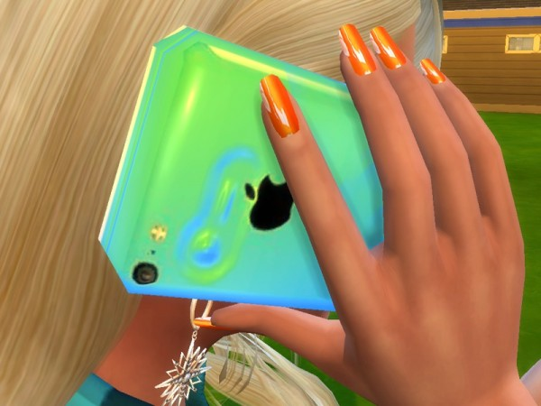 The Sims Resource: Orange Nails Mini Collection by Pinkzombiecupcake
