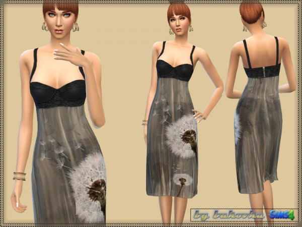 The Sims Resource: Dress Delicate Flower by Bukovka
