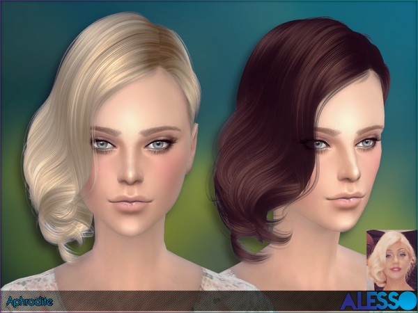 The Sims Resource: Alesso   Aphrodite Hair