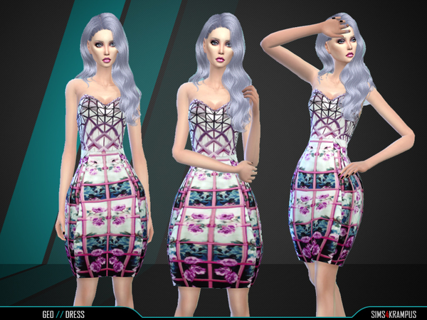 The Sims Resource: Geo Dress by SIms 4 Krampus