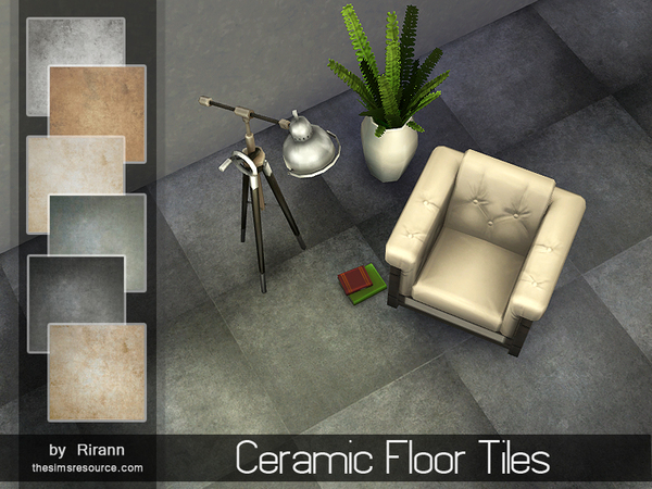 The Sims Resource: Ceramic floor tiles by Rirann