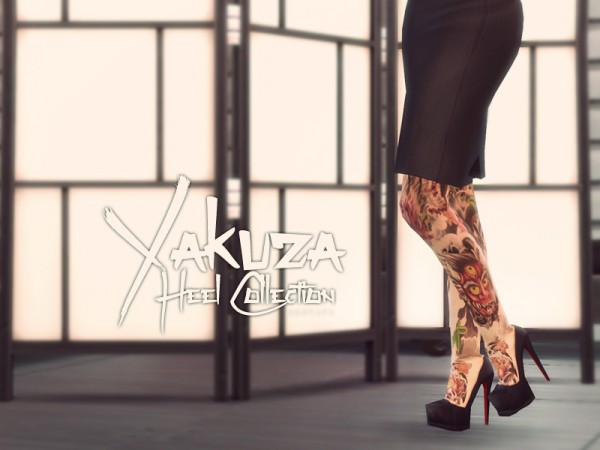 The Sims Resource: Yakuza Heel Collection   Pump by Sentate