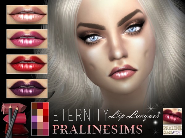 The Sims Resource Eternity Lip Lacquer By Pralinesims