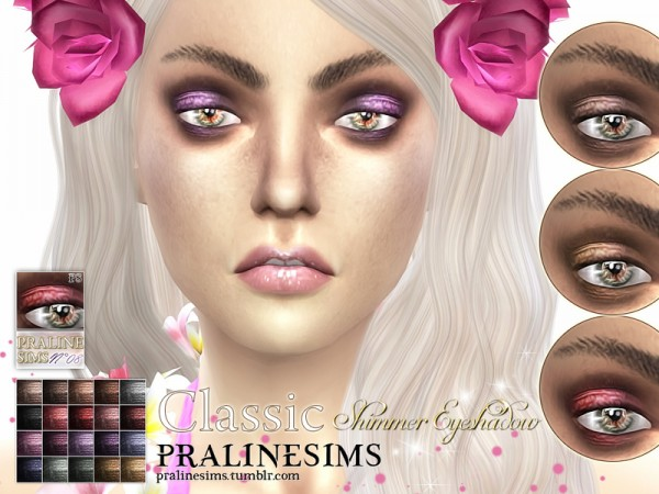 The Sims Resource: Classic Shimmer Eyeshadow by Pralinesims