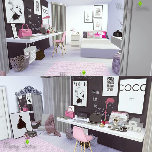 Sims 4 Cc S The Best Windows And Door Decor By Maximss: Mony Sims: A Little Pink, Please Bedroom • Sims 4 Downloads