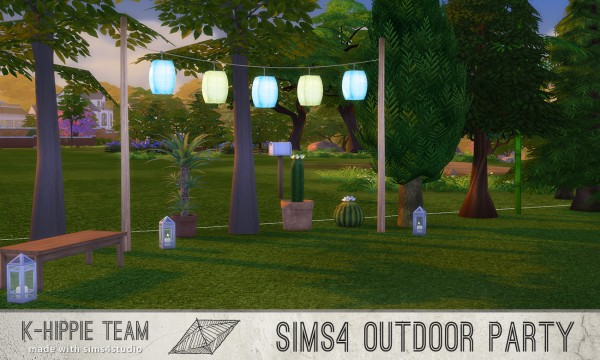 Mod The Sims 5 Breezy Lanterns Outdoor Party Serie