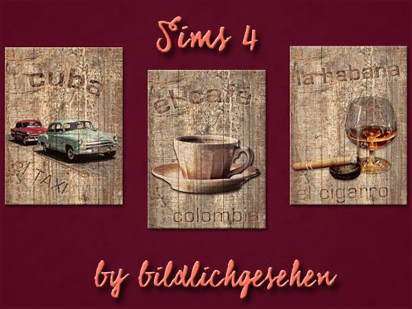 Akisima Sims Blog: Photo set on wood