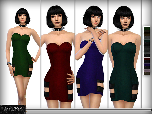 The Sims Resource: Cut Out Mini Dress by DarkNighTt