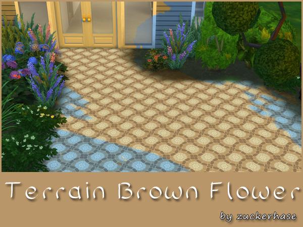 Akisima Sims Blog: Terrain Brown Flower
