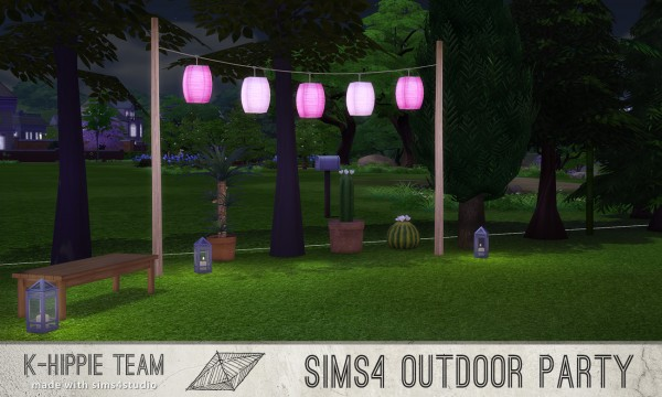 Mod The Sims: 5 Breezy Lanterns   Outdoor Party serie   volume 1 by Blackgryffin