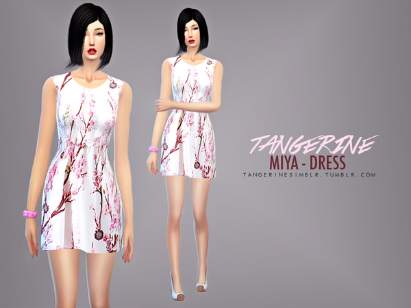 Sims Fans: Miya   Dress by tangerine