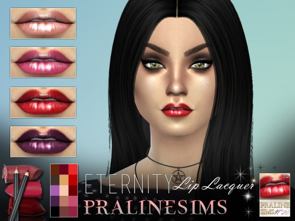 The Sims Resource: Eternity Lip Lacquer by Pralinesims