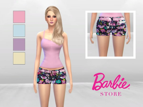 The Sims Resource: Floral Short by McLayneSims