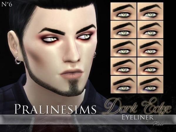 The Sims Resource: Dark Edge Eyeliner Duo by Pralinesims