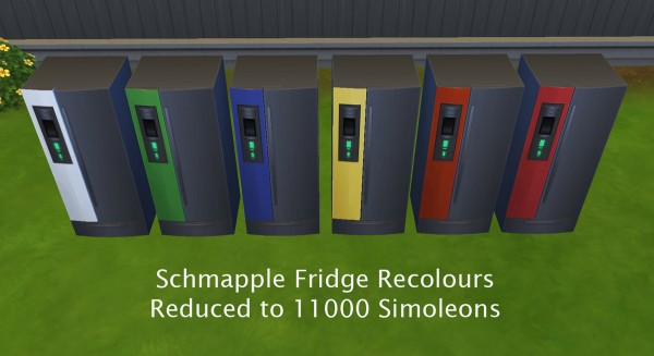 Mod The Sims: Schmapple Fridge and Oven Recoloured and Reduced to Sell!!! by Simmiller