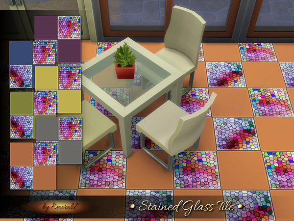 The Sims Resource: Stained Glass Tile by Emerald