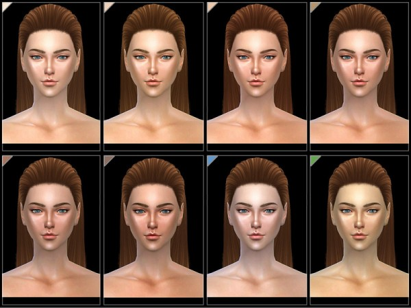 The Sims Resource: WMLL shiny Skintones 1.0 by S Club