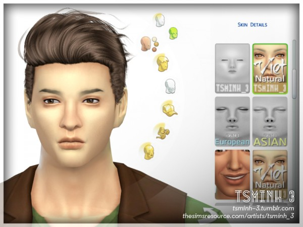 The Sims Resource: VIET Natural Face Skin by tsminh 3