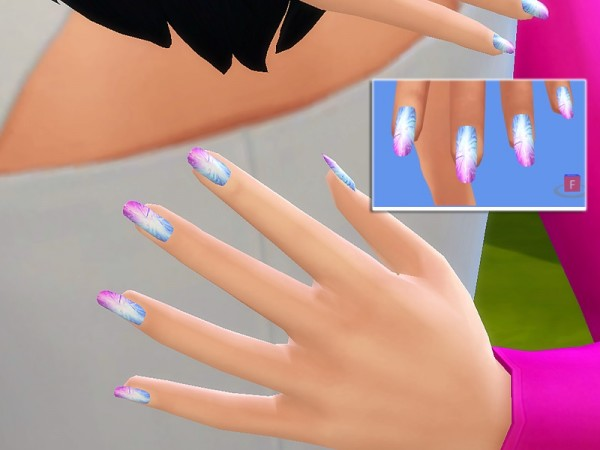 The Sims Resource Holographic Nails Collection 30 Different Nails By Pinkzombiecupcake Sims 4