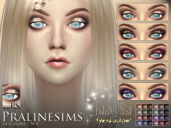The Sims Resource: Galaxy Star Eyeshadow by Pralinesims