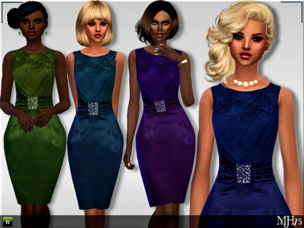 Sims Addictions: Satina Dress by Margies Sims