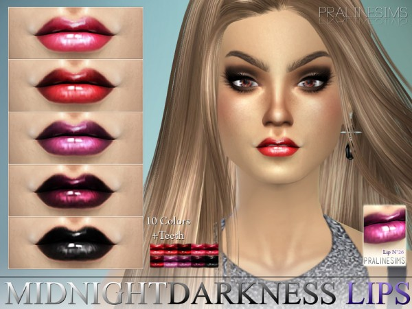 The Sims Resource: Midnight Darkness Lips   N26 +Teeth by Pralinesims