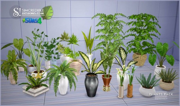 Simcredible Designs Plants Pack Sims 4 Downloads
