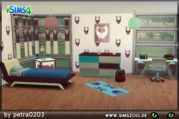 Blackys Sims Zoo: Teen room by petra0203