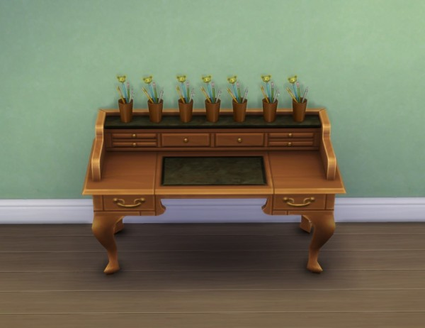 Mod The Sims: Fixed: More Slots for All Purpose Desk by plasticbox