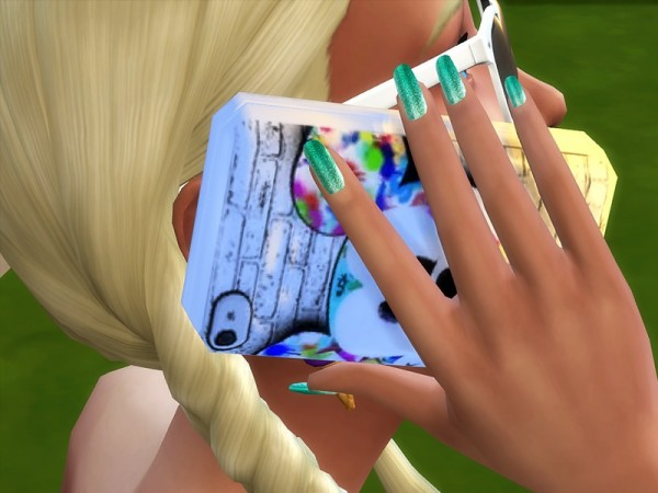 The Sims Resource: Sublime Collection 18 Glossy Nails by Pinkizombiecupcake