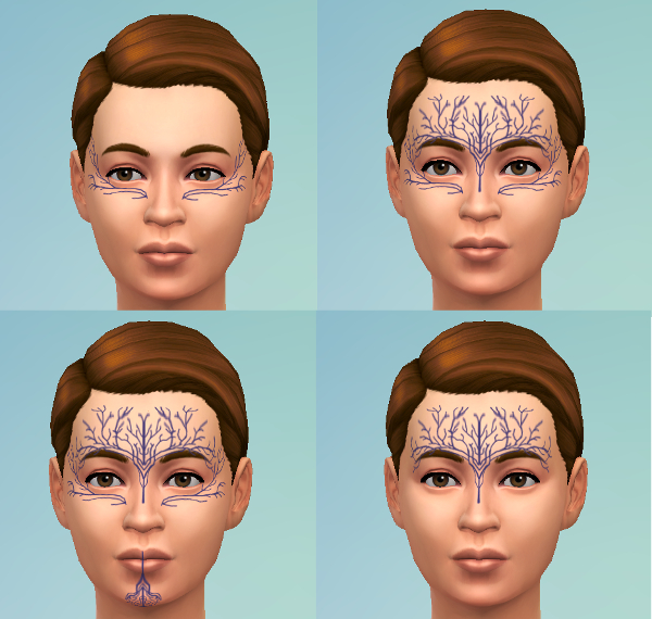 Mod The Sims: Dalish Tattoos by mademoisellemaple
