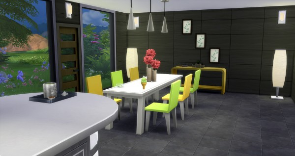 Studio Sims Creation: Red kitchen