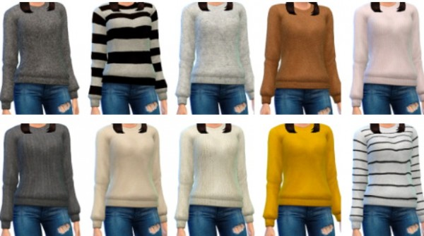 Marvin Sims Cozy Wool Sweaters Sims 4 Downloads