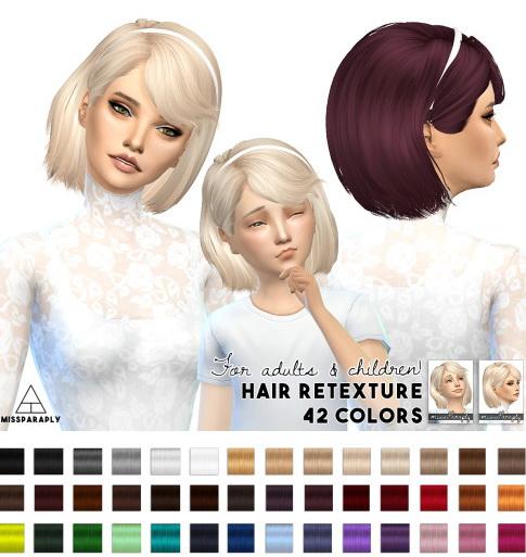Miss Paraply: Hair retexture Maysims 46