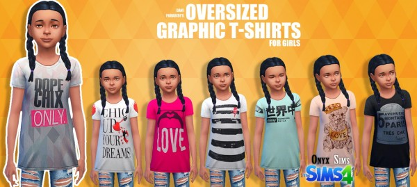 Onyx Sims: Oversize Graphic Tees