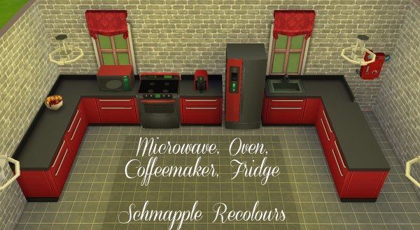 Mod The Sims: Schmapple Small Appliance recolors by Simmiller
