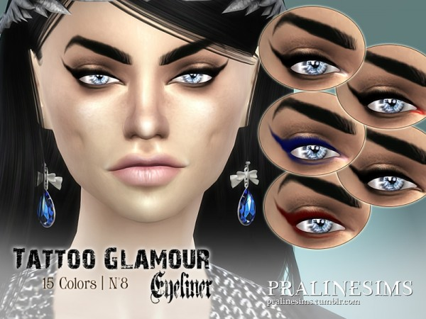 The Sims Resource: Tattoo Glamour Eyeliner by Pralinesims