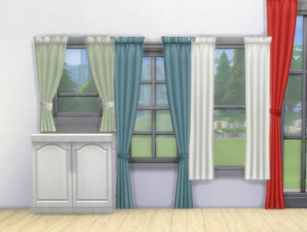 Mod The Sims Simple Curtains By Plasticbox Sims 4 Downloads
