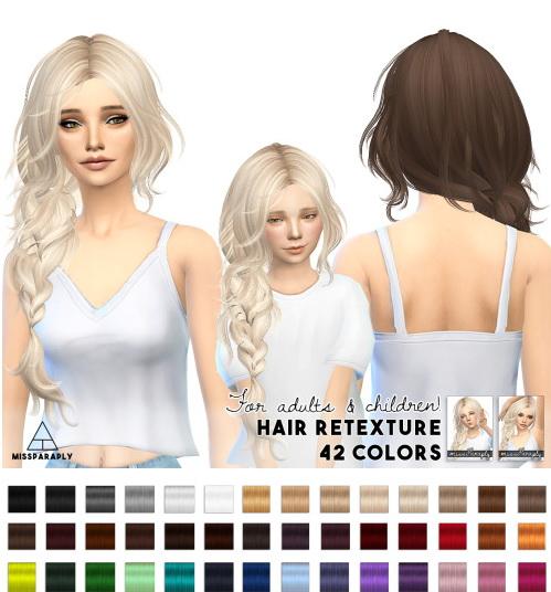 Miss Paraply: Hair retexture Maysims 43
