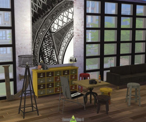Around the sims 4 industrial diningroom sims 4 downloads for Dining room ideas sims 4