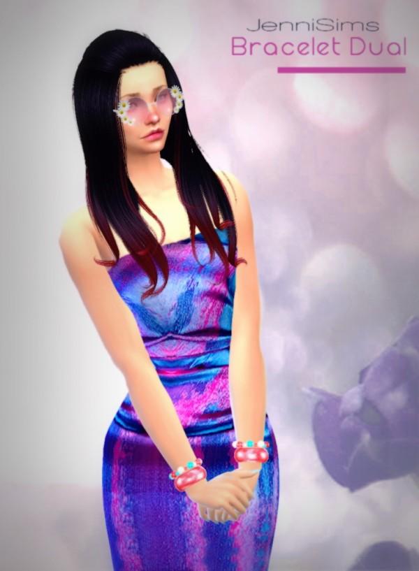 Jenni Sims: Bracelet Dual Hot Summer (left, right) by JenniSims