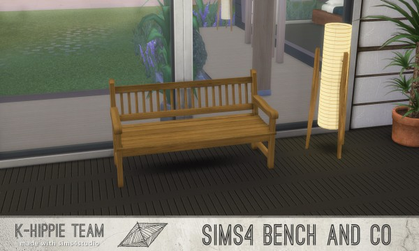 Mod The Sims: 7 Benches   Old Wood Serie   volume 1 by Blackgryffin