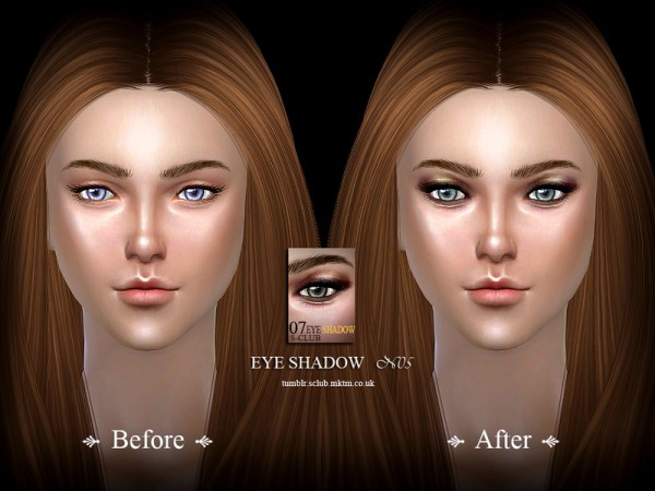 The Sims Resource: Eyeshadow 07 by S Club