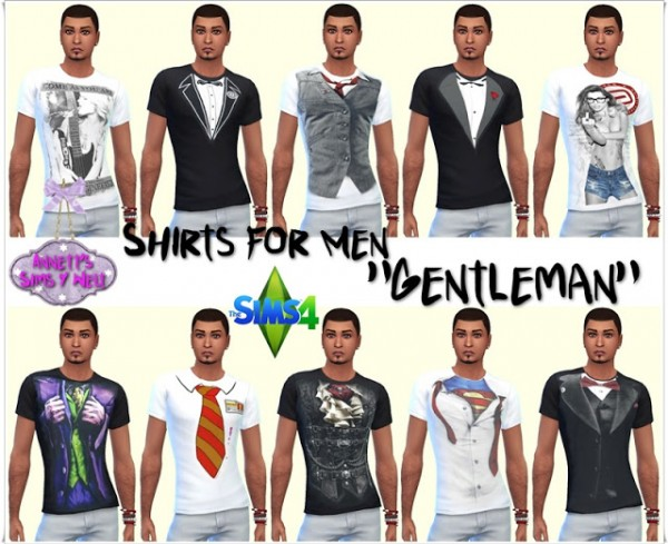 Annett`s Sims 4 Welt: Shirts for Men Gentleman