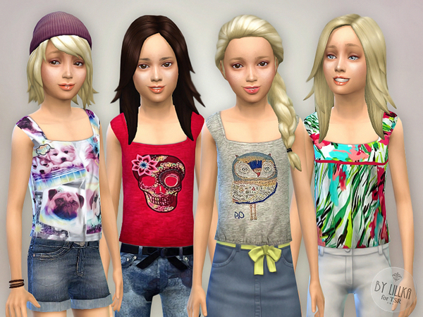 The Sims Resource: Tank Top Collection P01 by lillka