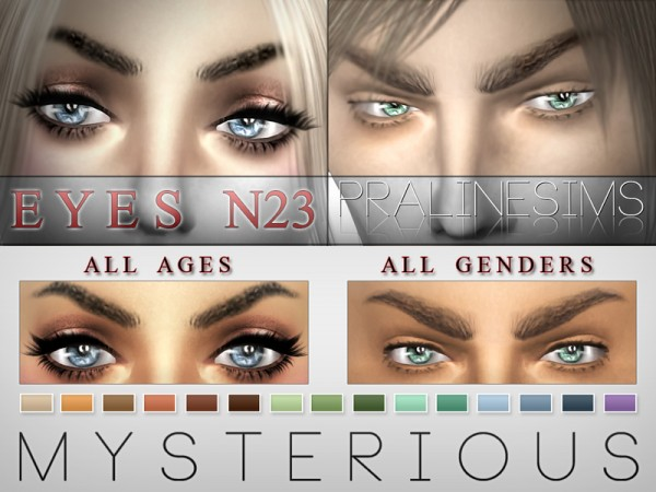 The Sims Resource: Mysterious Eyes 15 Colors / N23 by Pralinesims