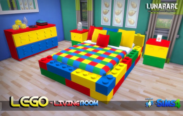 Lunararc Sims Lego Bedroom Set Sims 4 Downloads