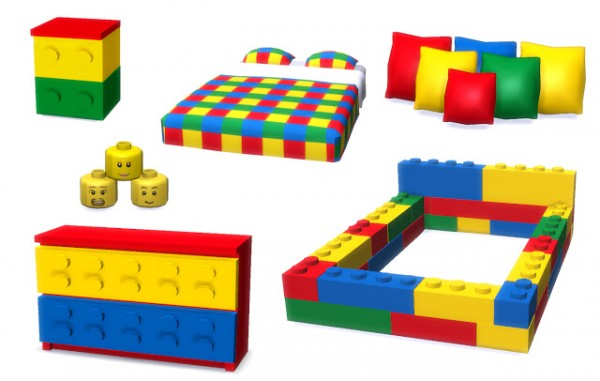 Lunararc Sims: Lego Bedroom Set • Sims 4 Downloads