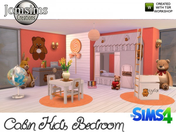The Sims Resource Cabin Kids Bedroom By Jomsims Sims 4