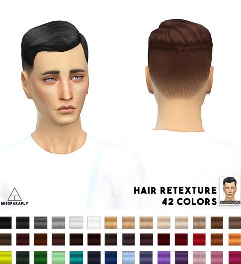 Miss Paraply: Hair retexture EA Short Crew Cut Side Part